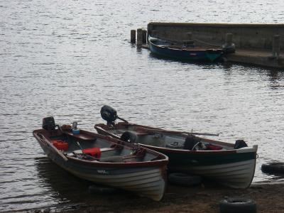 départ en cannot sur les lacs irlandais